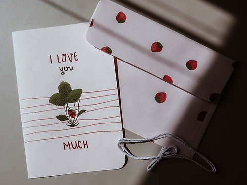 I love you berry much card