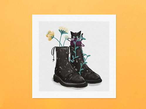 Cats in boots Art Print