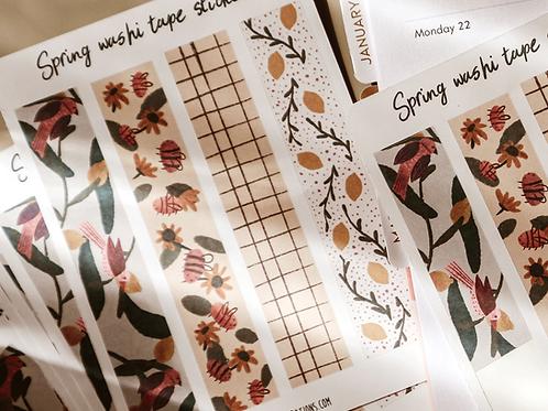 Spring Washi Tape Sticker