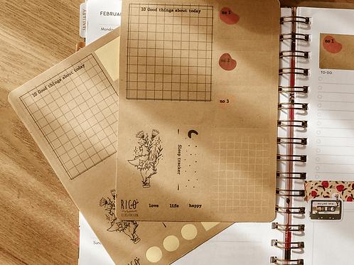Craft Planner sticker sheet