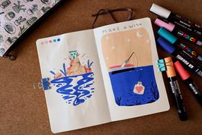 Posca pen illustrations