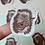 Thumbnail: Hedgehog in love die-cut sticker