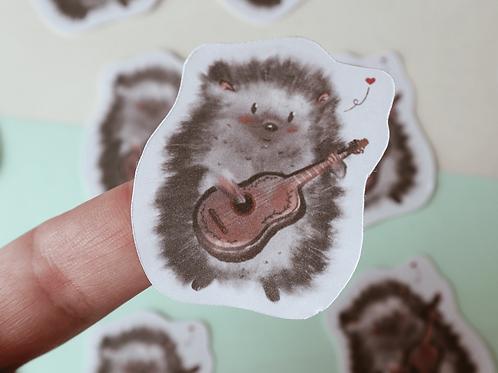 Hedgehog in love die-cut sticker