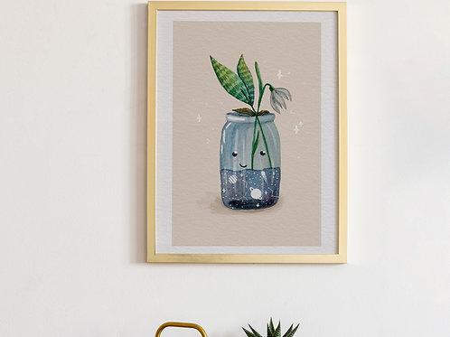 Spring in jar Art Print
