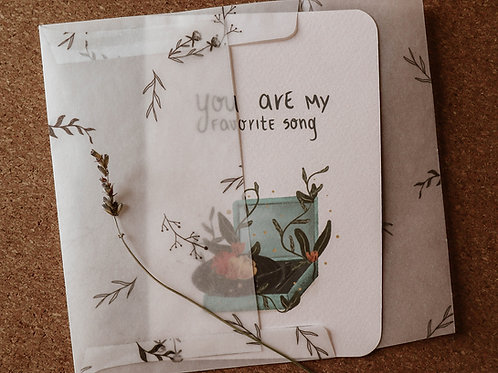 You are my favorite song card