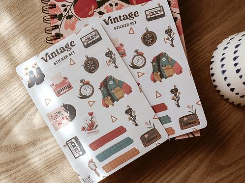 Vintage Sticker sheet