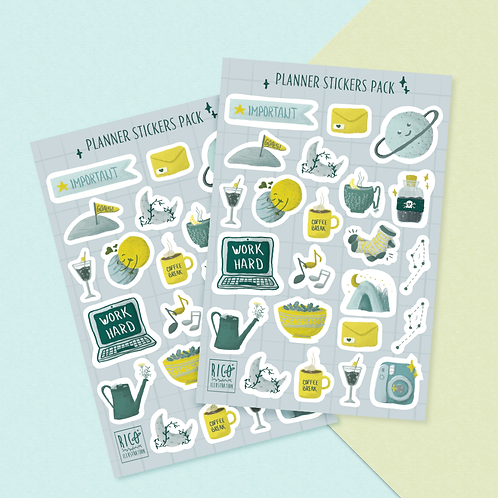 Planner stickers sheet