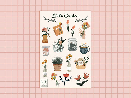 Little Garden stickers sheet