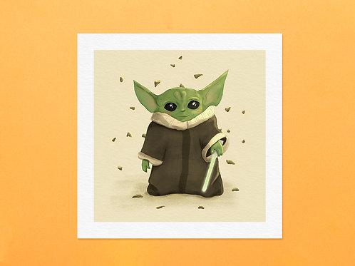 Baby Yoda Art Print