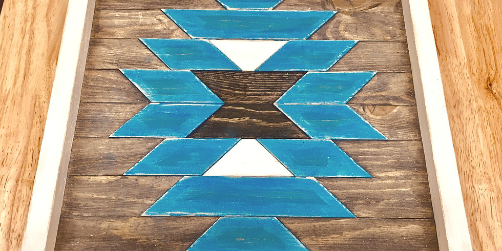 Hand Painted Wooden Barn Quilt