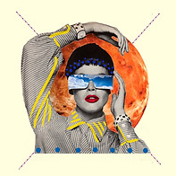 Digital collage made with the artist Susan Ringler (USA). 2015