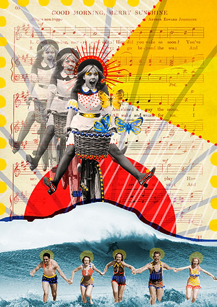 Digital collage made with the artists Julieta Mancifesta and Carla Peralta (Argentina). 2015