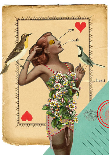 Digital collage made with the artist Peggy Despres (France). 2015