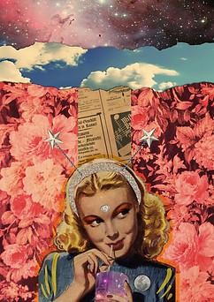 Handmade/digital collage made with the artist Jolene Casko (USA). 2015