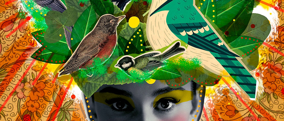 Digital collage for design and art