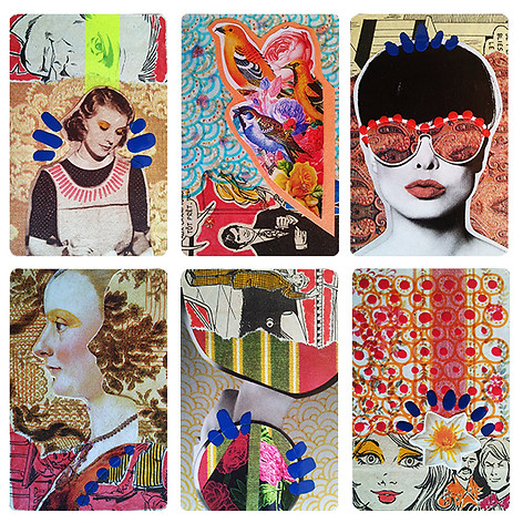 Collage cards made with Musta Fior (France). 2015
