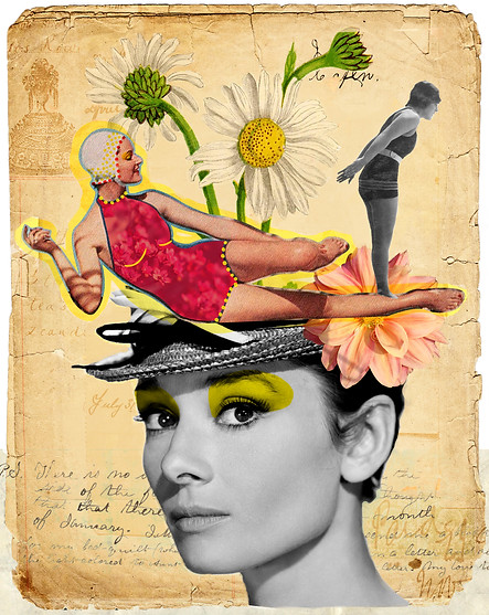 Handmade/digital collage made with the artist Lesley Bourne (Australia). 2015