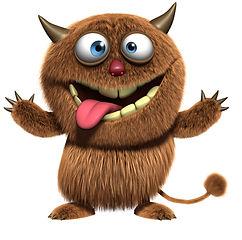 Haariges Monster-Animation