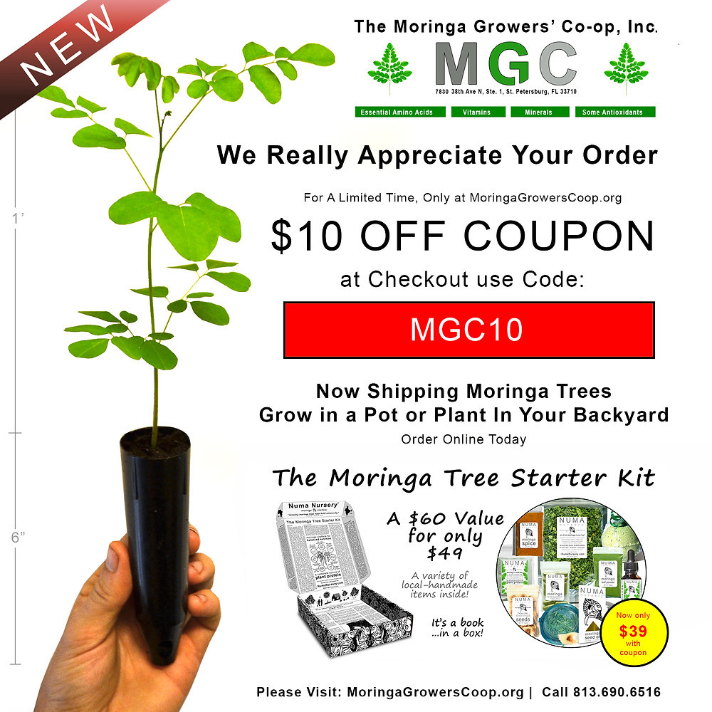 Visit MoringaGrowersCoop.org for $10 Off Coupon