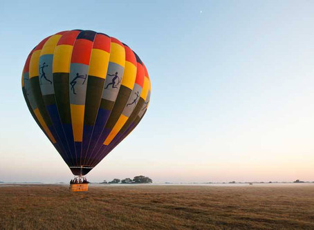 Hot air ballooning has begun at Vumbura Plains and Little Vumbura in the Okavango Delta