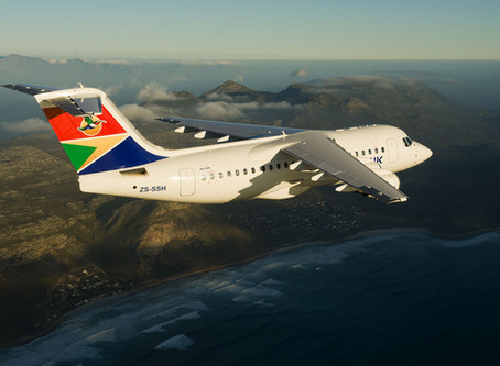 Business Class service available on Airlink's Cape Town - Victoria Falls route