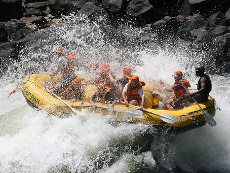 White-water rafting area shifting due to high water