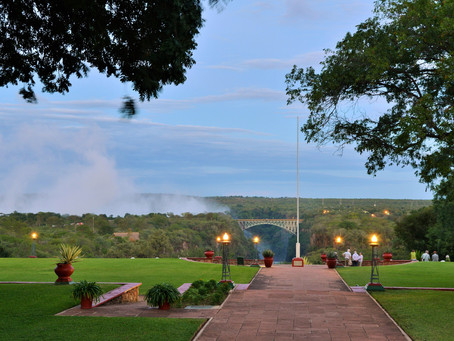 Walkway at Victoria Falls Hotel closed