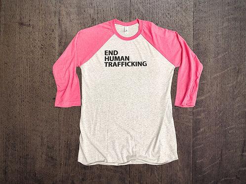 End Human Trafficking - Pink Raglan