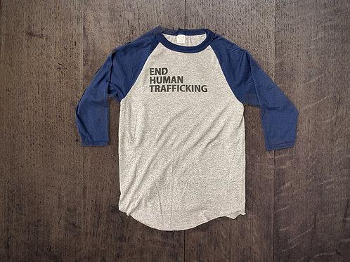 End Human Trafficking - Navy Raglan