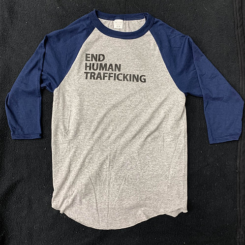 End Human Trafficking - Navy Raglan