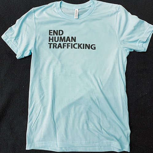End Human Trafficking - Light Blue