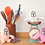 Thumbnail: ThumThum Plush Toy Small (6 inch, White/Pink/Peach)