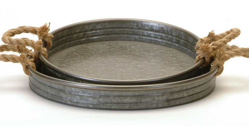 Round Galvanized Tray