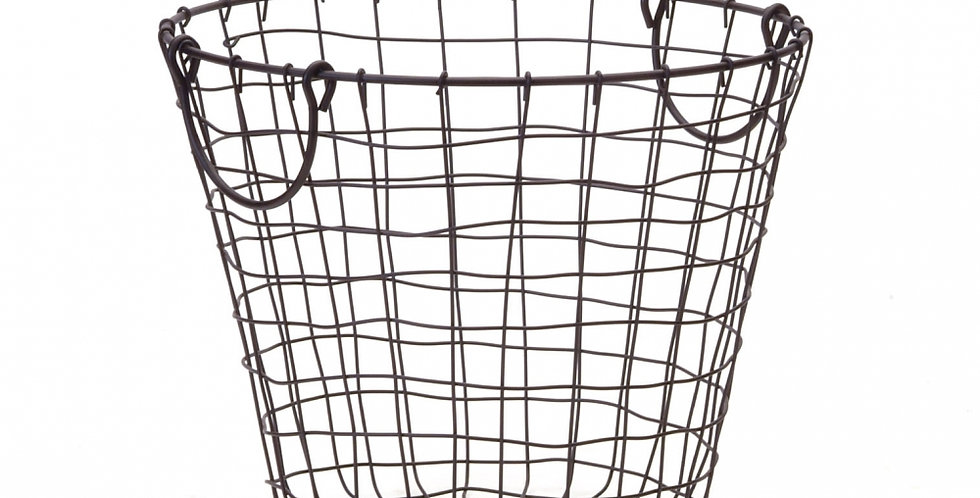 Large Black Wire Basket