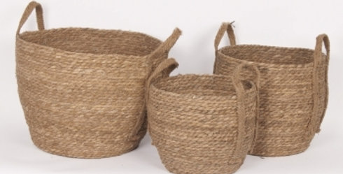 Large Natural Straw Basket