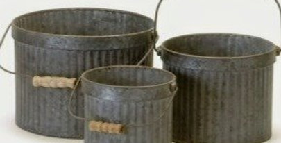 Round Galvanized Bucket