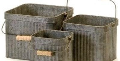 Square Galvanized Buckets