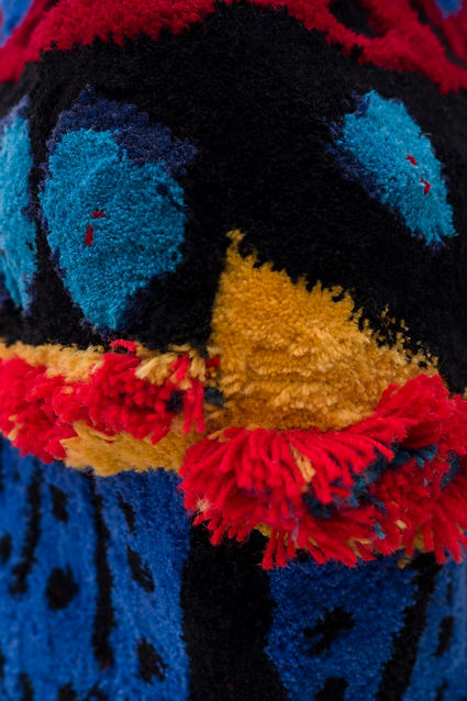 Birth mark, tufted sculpture (close up)