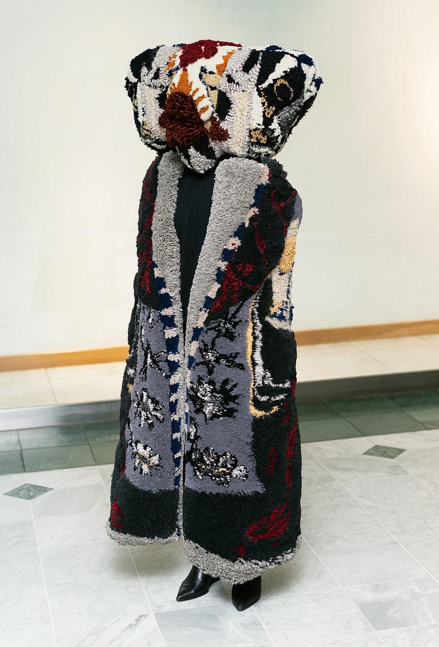 cover-Baba-yaga,-tufted-sculpture,-yarn-