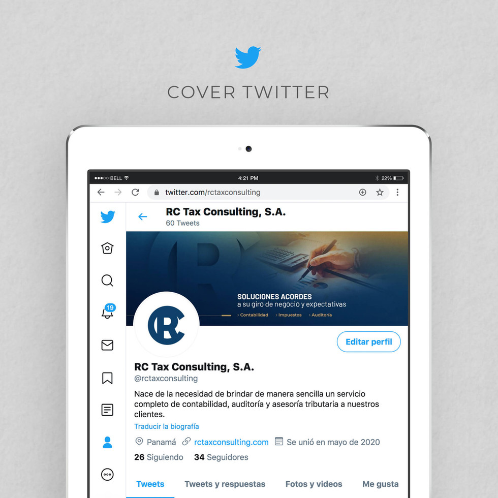 RC Tax Consulting - Redes Sociales