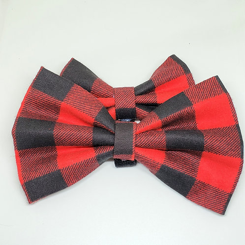 "Handmade ""Red Buffalo"" Flannel Bowtie"