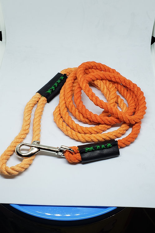 Goldenberry Dip-Dyed Rope Leash