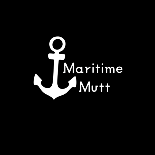 """Maritime Mutt"" Reversible Over-the-Collar Bandana"