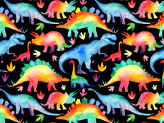 """Rainbow-Saurus Rex"" Reversible Over-the-Collar Bandana"