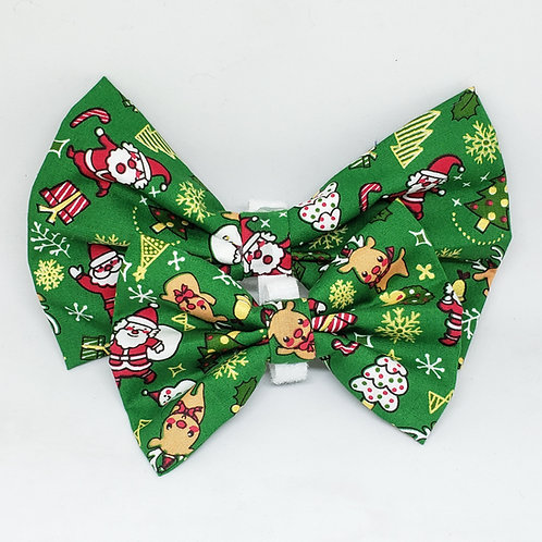 "Handmade ""Cartoon Christmas"" Bowtie"