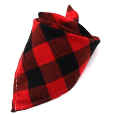 """Red Buffalo"" Flannel Tie on Bandana"