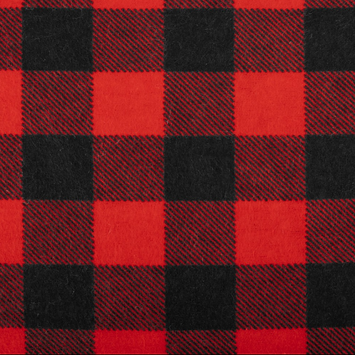 """Red Buffalo"" Flannel Over-the-Collar Bandana"