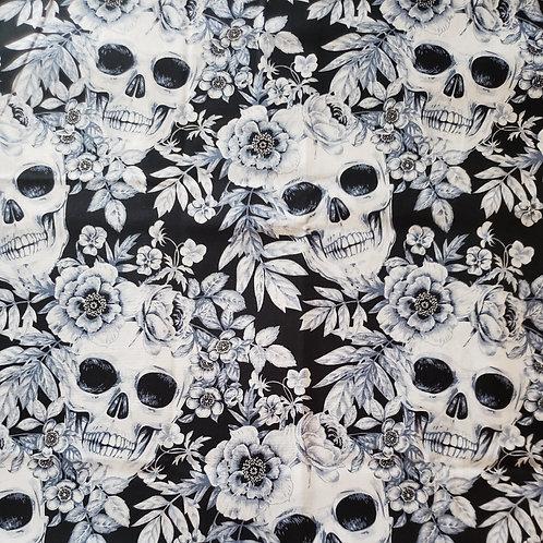 """Skulls & Roses"" Reversible Over-the-Collar Bandana"