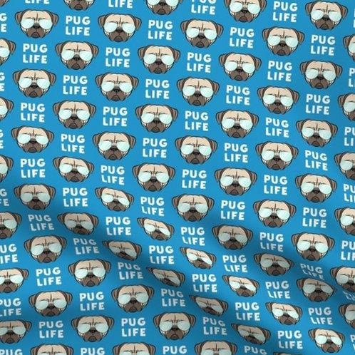 """""""Pug Life""""Reversible Over-the-Collar Bandana"""