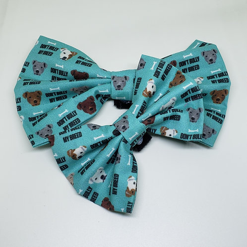 "Handmade ""Don't Bully My Breed"" Bowtie"